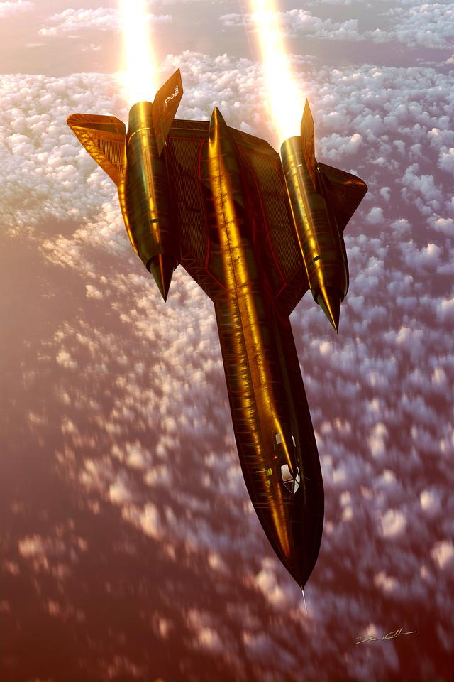 SR-71 Afterburner at Sunset