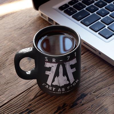 The FAF SR-71 Black Coffee Mug